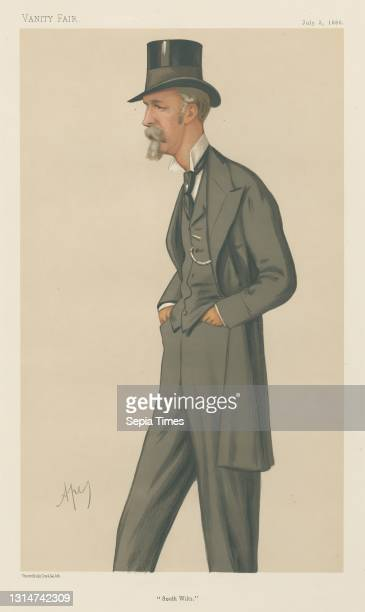 Politicians - Vanity Fair - 'South Wilts'. The Viscout Folkestone. July 3 Carlo Pellegrini, 1839–1889, Italian Chromolithograph.