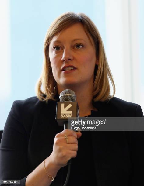 Politico's Anna Palmer speaks at the Featured Speaker Connect with Katie Couric during SXSW at Fairmont Austin on March 11 2018 in Austin Texas