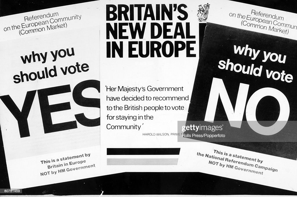 Politics, 1st May 1975, London, Government documents about to be published for the British Common Market Referendum vote on 5th June 1975