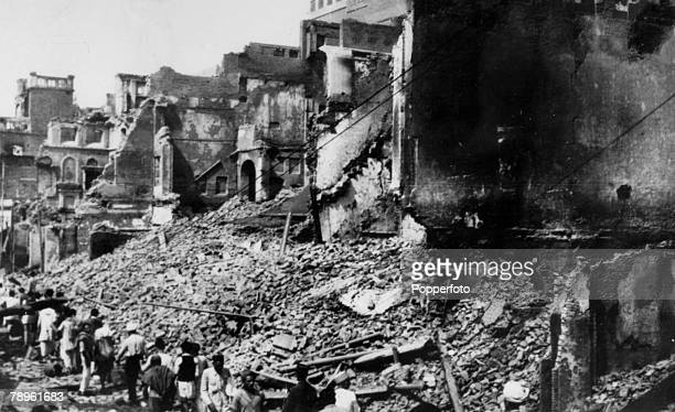 March 1947 A scene of destruction in Amritsar Punjab after rioting during the conflict between Hindu and Moslem
