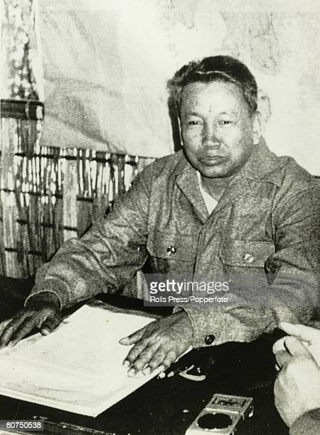 Politics Cambodia Asia Deposed Cambodian Premier Pol Pot gives an interview at his base near the Thai Cambodia border