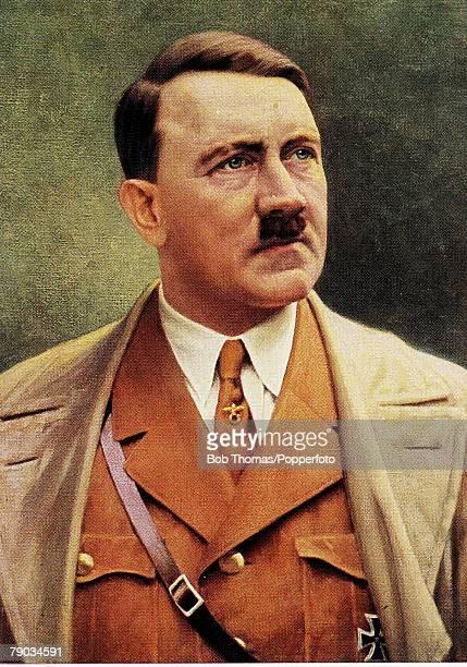 Politics Circa 1930's Adolf Hitler German leader and Nazi dictator Adolf Hitler in thoughtful pose