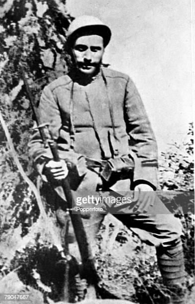 circa 1916 Benito Mussolini Italian Fascist Dictator pictured as a soldier during World War I Benito Mussolini founded the Fascist movement in 1919...
