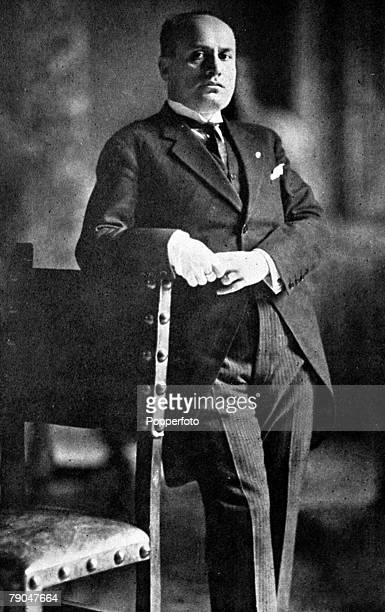 Circa 1930, Benito Mussolini, Italian Fascist Dictator, , portrait, Benito Mussolini founded the Fascist movement in 1919 and became known as Il...