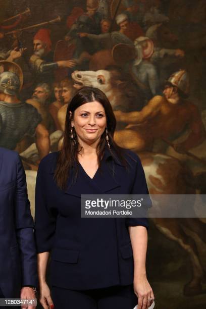 Politics Jole Santelli during the oath at Palazzo Chigi for her new post as Undersecretary of State at the Ministry of Labor and Social Policies....