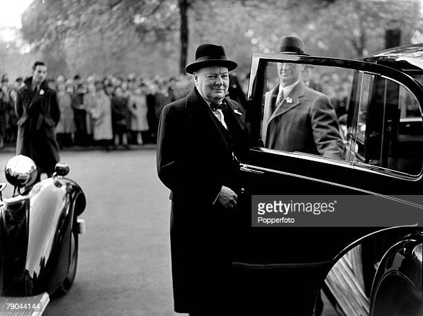 Politics London England 1st May 1945 British Prime Minister Winston Churchill is pictured in the year when he lost the General Election and was...