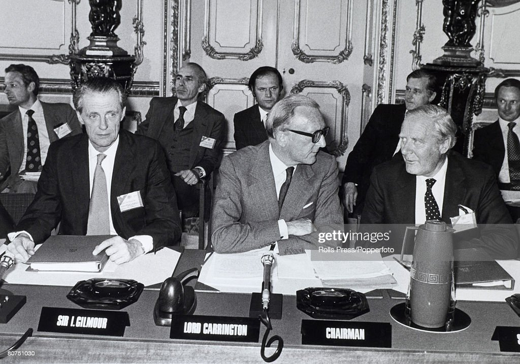 Politics london england1979 british leaders at the historic politics london england1979 british leaders at the historic rhodesia cease platinumwayz