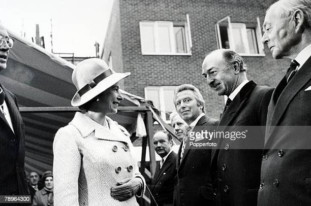 Politics London England Her Majesty Queen Elizabeth meets with former Secretary of State for War John Profumo as she opens a new Residential Home...