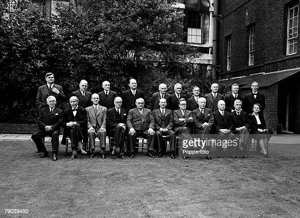 1945 The new Labour government of 1945 shows the Ministers in the garden of No 10 Downing Street Front row is LR Viscount Addison Lord Jowitt Sir...