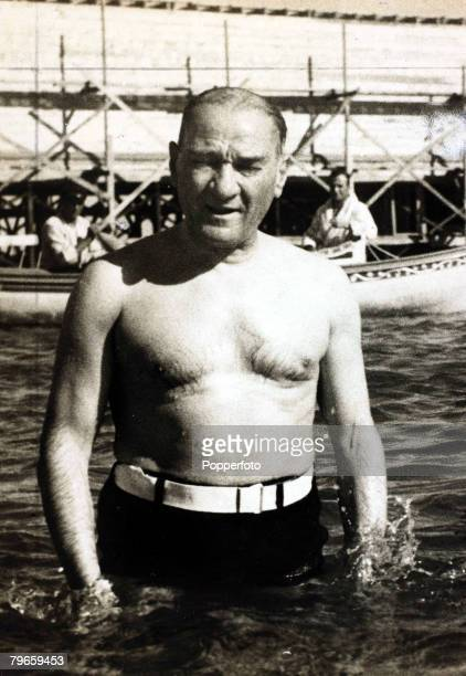 1930's Kemal Ataturk pictured relaxing at Floria a resort on the Bosporus Kemal Ataturk 18811938 was a Turkish politician and general under his...