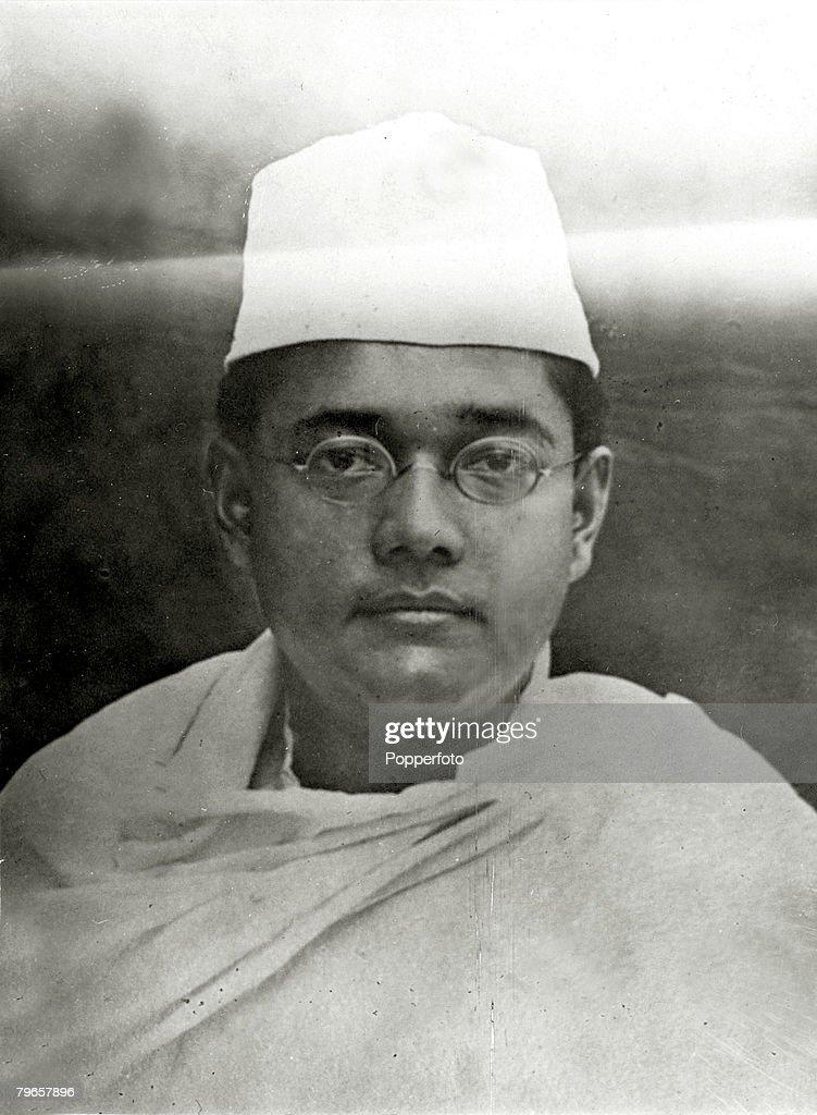 circa 1930's, Subhas Chandra Bose, (1897-1945) Indian Nationalist Leader