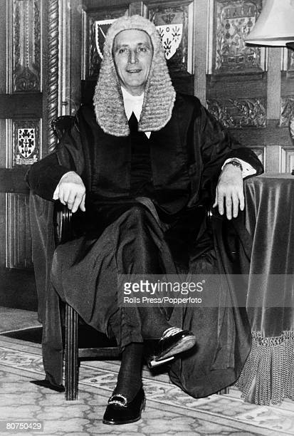 1976 London George Thomas the Speaker of the House of Commons in the Chamber of the House of Commons George Thomas who later became Lord Tonypandy...