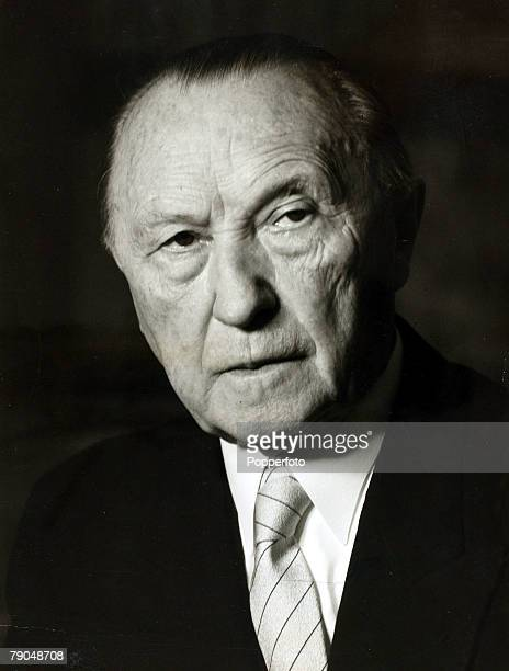 Politics, Personalities, pic: circa 1950's, Konrad Adenauer the West German Chancellor who became the first Chancellor since the days of Adolf...