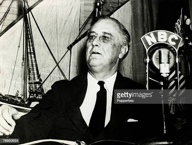 September 1942 President Franklin DRoosevelt speaking to the people of the United States Franklin DRoosevelt was USPresident 19321945 serving an...