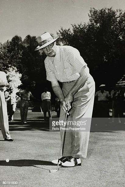 1953 Denver Colorado President Dwight D Eisenhower playing golf his favourite form of relaxation Dwight DEisenhower became the 34th President of the...