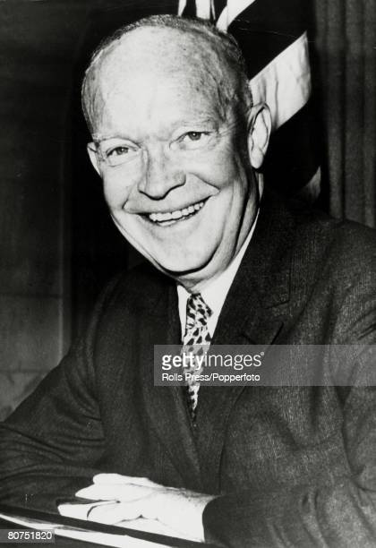 1960 President Dwight D Eisenhower portrait Dwight DEisenhower became the 34th President of the United States 19531961 He was World War Two aAllied...
