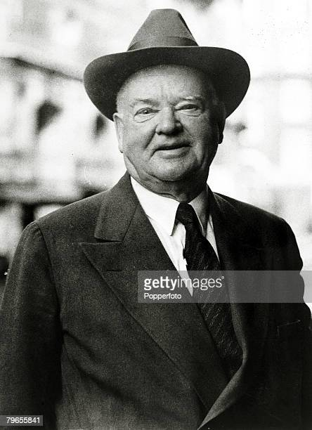 Politics, Personalities, USA, pic: 4th April 1946, Herbert Hoover, , pictured in London, Herbert Hoover became the 31st President of the United...