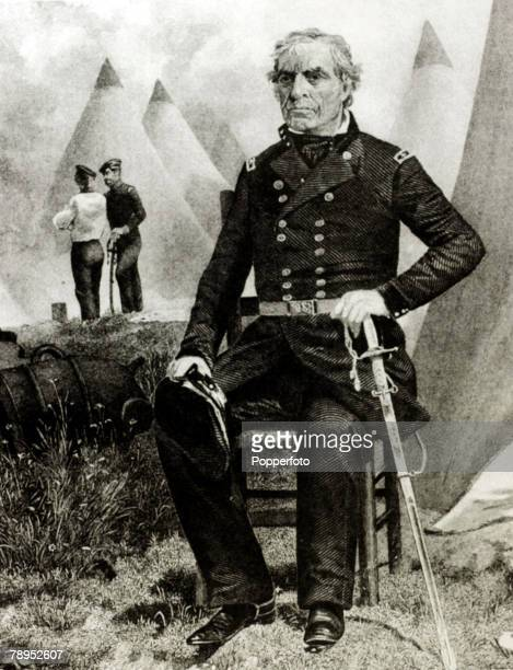circa 1840's Zachary Taylor who was a General fighting in the Mexican Wars who went on to become President Zachary Taylor became the 12th President...
