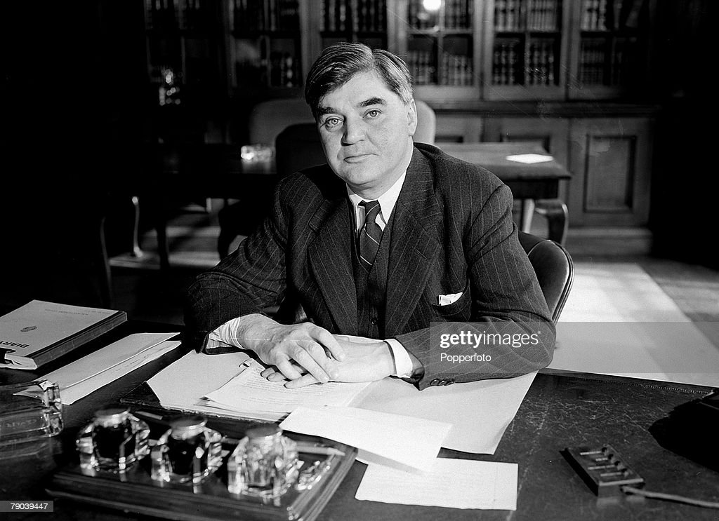 1945, A portrait of Aneurin Bevan, the Minister of Health in the new Labour government formed in 1945