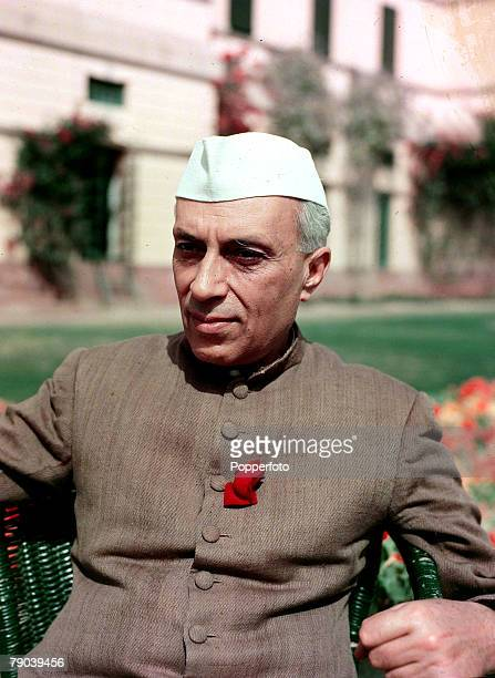 1950 A portrait of Jawaharlal Nehru the Prime Minister of India a nationalistic politician who was Prime Minister from 1947 He was the father of...