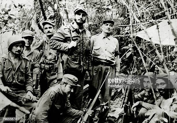 Politics / Revolution Personalities pic circa 1958 Cuban rebel leader Fidel Castro pictured with some of his followers Fidel Castro born 1926/27...
