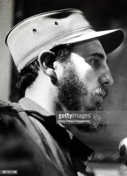 Politics / Revolution Personalities pic January 1959 Cuban leader Fidel Castro pictured shortly after his triumphal return to Havana Fidel Castro...