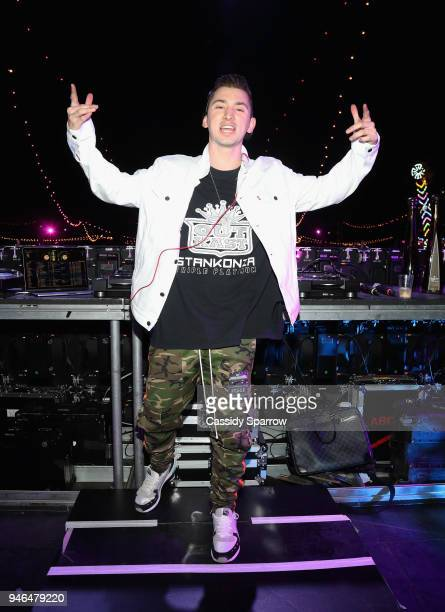 Politik attends The Levi's Brand Presents NEON CARNIVAL with Tequila Don Julio on April 14 2018 in Thermal California