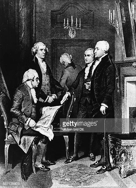 Politiker USA 1 Präsident der USA 17891797 mit seinem Kabinett undatiert