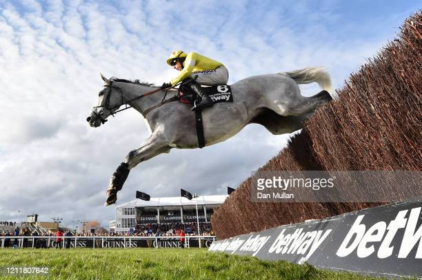 Politologue ridden by Harry Skelton on the way to winning the Betway Queen Mother Champion Chase at Cheltenham Racecourse on March 11, 2020 in...