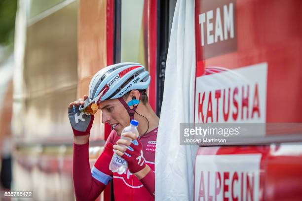 Politt Nils of Team Katyusha Alpecin prepares during the EUROEYES CYCLASSICS Hamburg race on August 20 2017 in Hamburg Germany