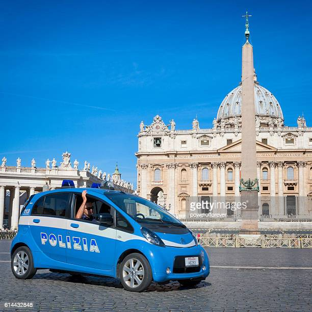 Polizia at St. Peter's Basilica in the Vatican City State