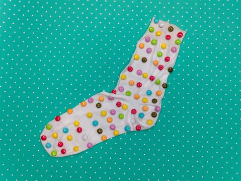 polka dot socks green - gettyimageskorea