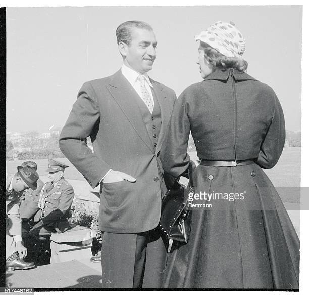 Polka dots seem to be the fashion favorite of Queen Soraya and the Shah of Iran. Her Husband is wearing. On a visit to India, the royal cuople were...