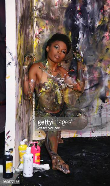 Poll Dancer and Painter Performance Artists during The Chashama Gala at 4 Times Square on June 7 2018 in New York City