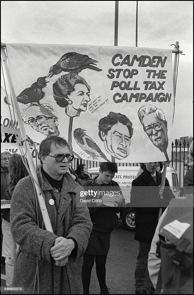 A Poll Tax demonstration on Market Road, London, N7 , UK, 5th November 1989.