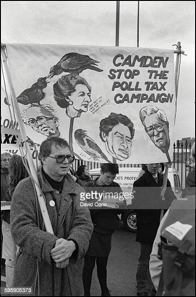 A Poll Tax demonstration on Market Road London N7 UK 5th November 1989