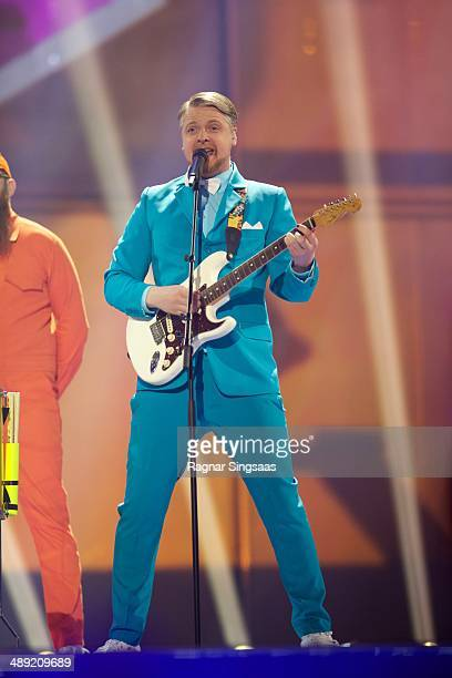 Pollaponk of Iceland performs on stage during the grand final of the Eurovision Song Contest 2014 on May 10 2014 in Copenhagen Denmark