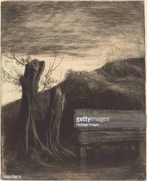 Pollard Willows . Artist Alphonse Legros.