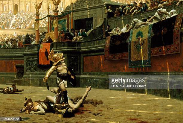 Pollice verso by JeanLeon Gerome oil on canvas