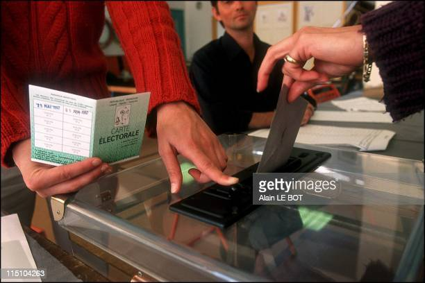 Polling station during the first round of the presidential elections in Nantes France on April 21 2002