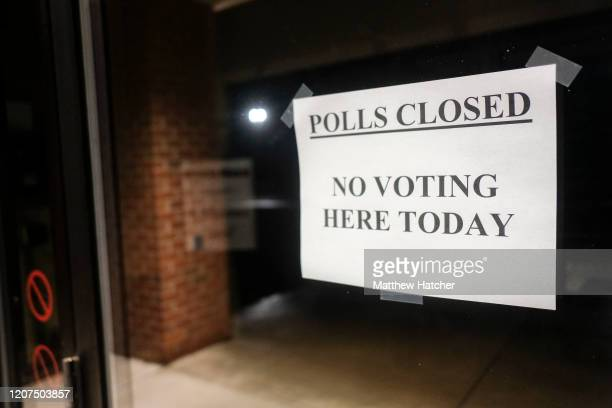 Polling stations throughout the were shut down as Gov Mike DeWine called for the state's primaries to be pushed back to June on March 17 2020 in...