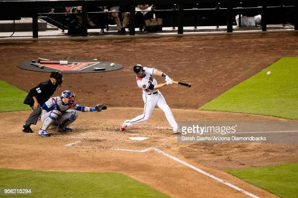 J Pollock of the Arizona Diamondbacks atbat during a game against the Los Angeles Dodgers at Chase Field on May 2 2018 in Phoenix Arizona