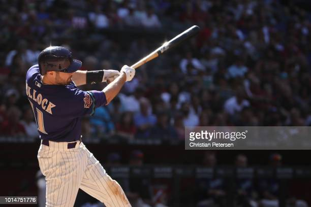 J Pollock of the Arizona Diamondbacks bats against the Los Angeles Dodgers during the MLB game at Chase Field on May 3 2018 in Phoenix Arizona The...