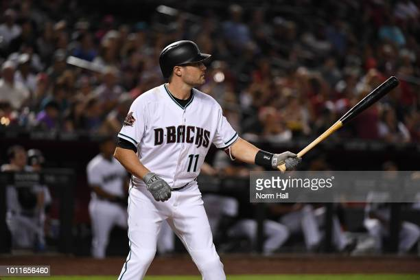 Pollock of the Arizona Diamondbacks gets ready in the batters box against the Texas Rangers during the first inning at Chase Field on July 31 2018 in...