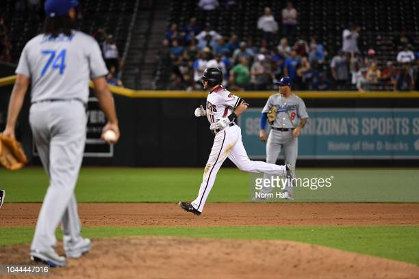 Pollock of the Arizona Diamondbacks rounds the bases after hitting a home run off of Kenley Jansen of the Los Angeles Dodgers at Chase Field on...
