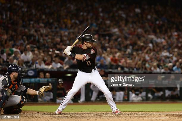 J Pollock of the Arizona Diamondbacks stands at bat in the seventh inning of the MLB game against the Houston Astros at Chase Field on May 5 2018 in...