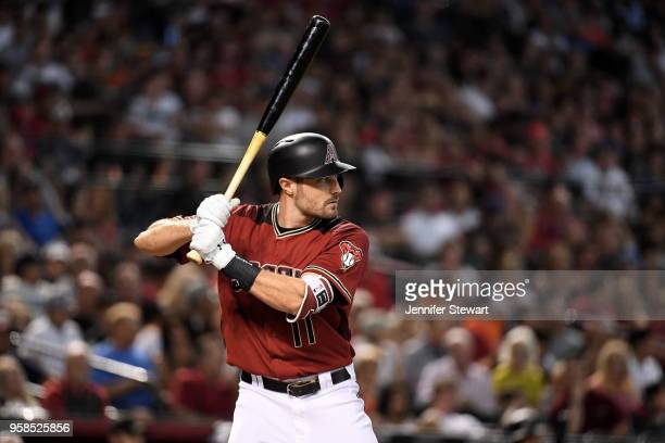 J Pollock of the Arizona Diamondbacks stands at bat in the sixth inning of the MLB game against the Houston Astros at Chase Field on May 6 2018 in...
