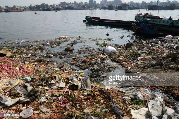 Polluted Buriganga river in Dhaka Bangladesh on March 21 2018 World Water Day is observed on March 22 and focuses on the importance of universal...