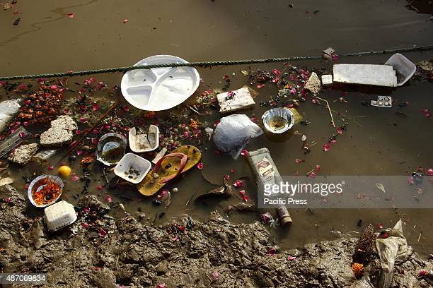 Polluted water of the holy river Ganga in Varanasi Ganga is the largest river in India with an extraordinary religious importance for Hindus It...