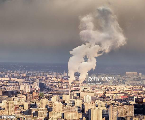 Polluting chimneys in Paris